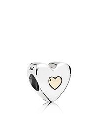 Pandora Design Pandora Charm Sterling Silver And 14K Gold Happy Anniversary Moments Collection Silver Gold