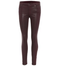 7 For All Mankind The Ankle Skinny Coated Jeans Purple