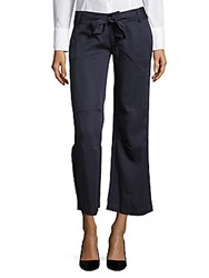 Cirana Solid Ankle Length Pants Navy