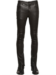 John Varvatos Stretch Nappa Leather Biker Pants