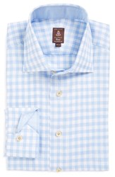 Men's Robert Talbott Tailored Fit Gingham Linen Dress Shirt