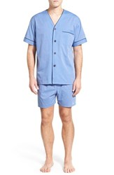 Men's Majestic International Cotton Blend Pajamas Blue