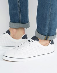Pull And Bear Sneakers With Perforated Detail In White White