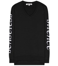 Mcq By Alexander Mcqueen Embroidered Cotton Sweatshirt Black
