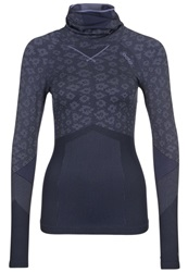 Odlo Evolution Long Sleeved Top Dusted Peri Navy New Lilac
