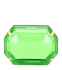 Charlotte Olympia A Girl's Best Friend Box Clutch Green