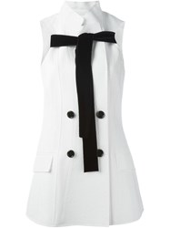 Proenza Schouler Bow Detail Jacket White