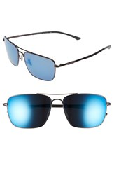 Women's Smith Optics 'Nomad' 59Mm Polarized Sunglasses Dark Gray Polar Blue Mirror