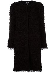 Giorgio Armani Oversized Knit Coat Black