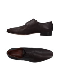A.Testoni Lace Up Shoes Dark Brown