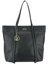 Armani Jeans Piped Detail Shoulder Bag Black