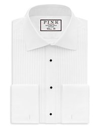 Thomas Pink Pleat Evening Shirt Bloomingdale's Classic Fit White