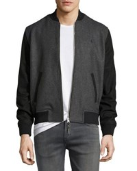 Original Penguin Wool Bend Bomber Jacket Gray