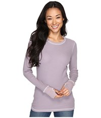 Allen Allen L S Thumbhole Tee Earth Women's Long Sleeve Pullover Brown