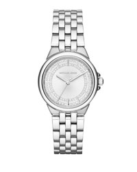 Michael Michael Kors 34Mm Camille Round Stainless Steel Bracelet Watch Gray