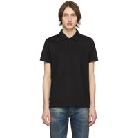 Saint Laurent Black Monogram Polo