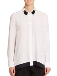 Zac Posen Gemma Blouse Bone