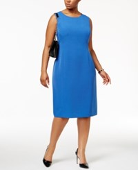 Anne Klein Plus Size Sheath Dress Bluebell