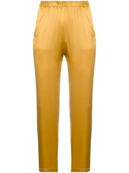 Forte Forte Cropped Skinny Trousers Yellow And Orange
