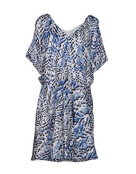 Surface To Air Short Dresses Blue