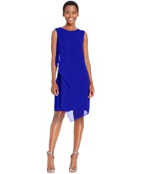 Styleandco. Style And Co. Draped Chiffon Shift Dress Only At Macy's Moroccan Blue