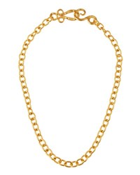 Stephanie Kantis 24K Yellow Gold Plated Tudor Chain Necklace 18 L