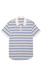 Shipley And Halmos Broome Multistripe Polo