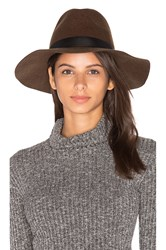 Michael Stars World Traveler Wide Brim Hat Olive
