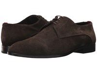 Hugo Boss Dress Appeal Suede Lace Up Derby By Dark Brown Men's Shoes