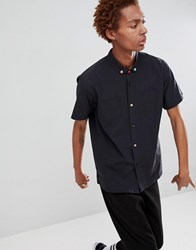 Fairplay Short Sleeve Button Up Shirt In Black