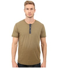 Lucky Brand Kings Canyon Henley Military Olive Men's Short Sleeve Pullover