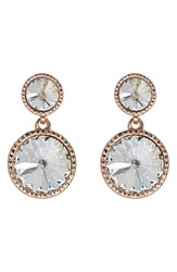 Ted Baker Women's London Ronda Crystal Drop Earrings Rose Gold Color