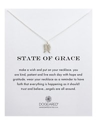 Dogeared Reminders State Of Grace Stering Silver Pendant Necklace