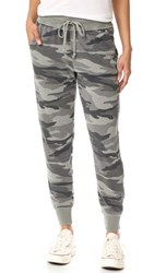 Splendid Camo Active Jogging Pants Military Olive