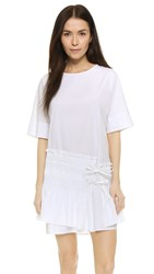 3.1 Phillip Lim Smocked Shirtdress With Ties White