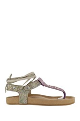 Coolway Scout Lace Up Sandal Beige