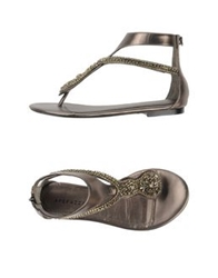 Apepazza Thong Sandals Lead