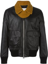 Coach Zipped Bomber Jacket Black