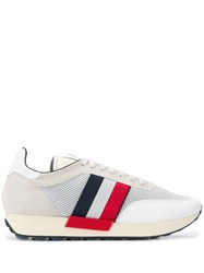 Moncler Mesh Panelled Sneakers White