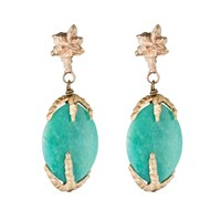 By Natalie Frigo Deco Chrysoprase Earrings
