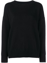 Frame Denim Cashmere Long Sleeve Jumper Black
