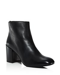 Stuart Weitzman Bacari Leather High Heel Booties Black
