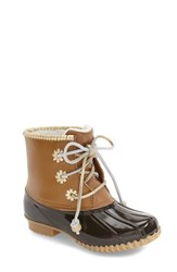 Jack Rogers Women's 'Chloe' Rain Boot Dark Brown Rubber