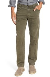 Ag Jeans Men's Big And Tall 'Graduate Sud' Slim Straight Leg Pants Sulfur Army