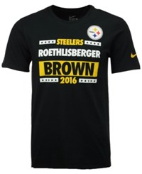 Nike Men's Roethlisberger Brown 2016 Pittsburgh Steelers Election T Shirt Black