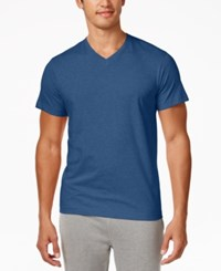Alfani Men's V Neck Undershirts 4 Pack Only At Macy's Blue Multi Heather