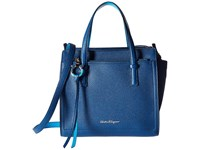 Salvatore Ferragamo Amy 21F478 Pacific Polynesie Satchel Handbags Blue