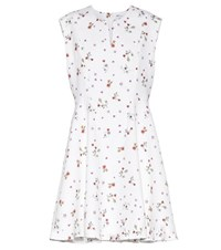 Carven Printed Crepe Mini Dress White