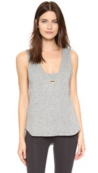 Feel The Piece Stag Tank Heather Grey