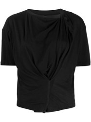 Unravel Project Draped Style T Shirt Black